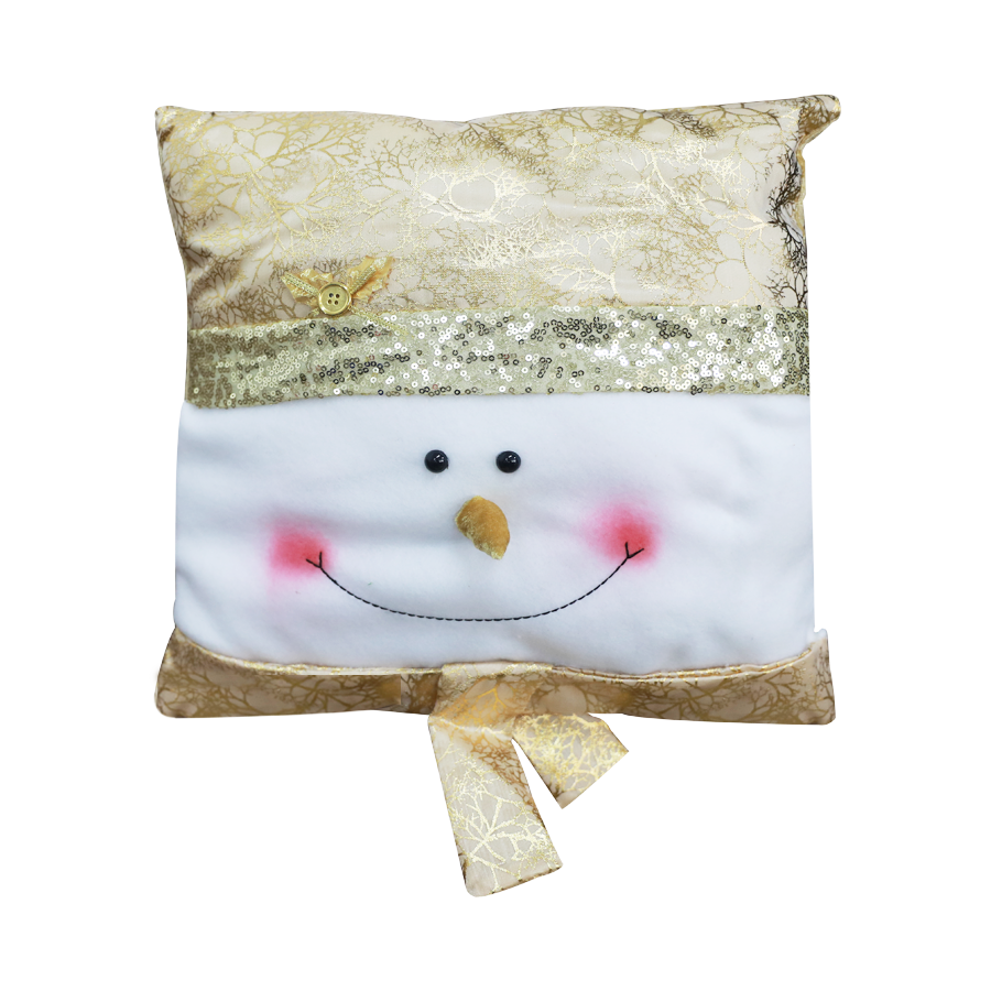 GM21471060 14'' Snowman Christmas Décor Pillow