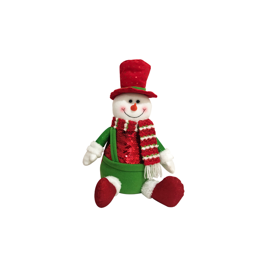 GM21473181 12'' Sitting Down Snowman Christmas Décor