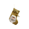 GM21473183 7'' Gold Santa Christmas Stocking