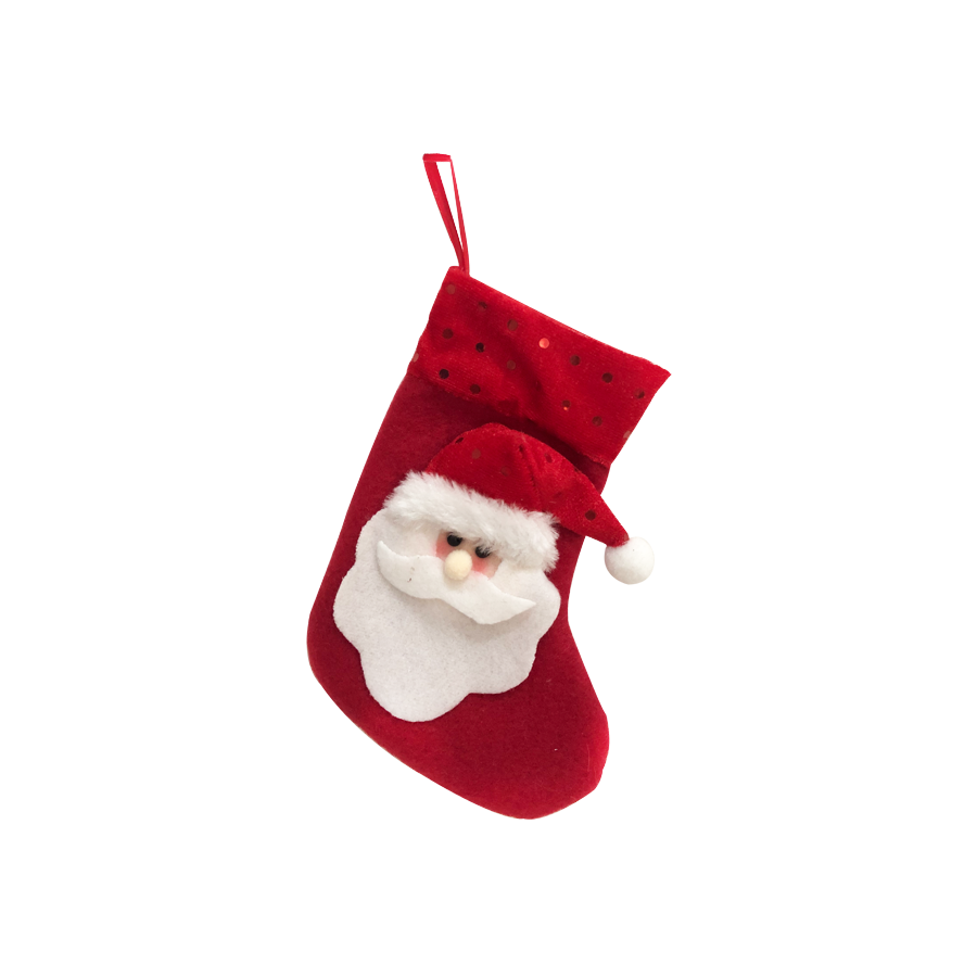 GM21473183 7'' Red Santa Christmas Stocking