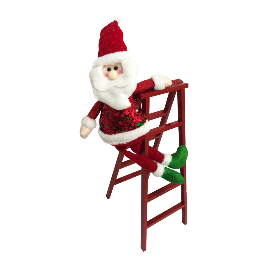 GM890173A 57'' Santa In A Ladder Christmas Décor