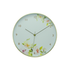 Gold Aluminium + Floral Wall Clock 7757