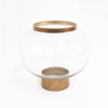 Gold Clear Glass Vase