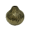 Gold Twisted Table Vase