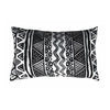Monochrome Aztec Kidney Pillow