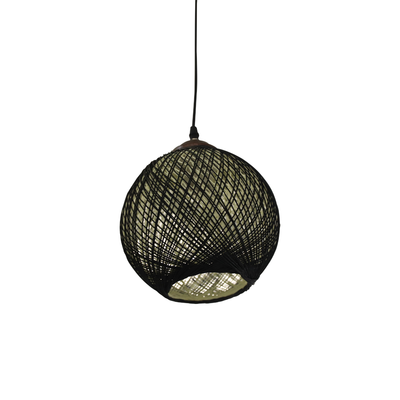 JM81160-1 Blk Paper Single Pendant Lamp