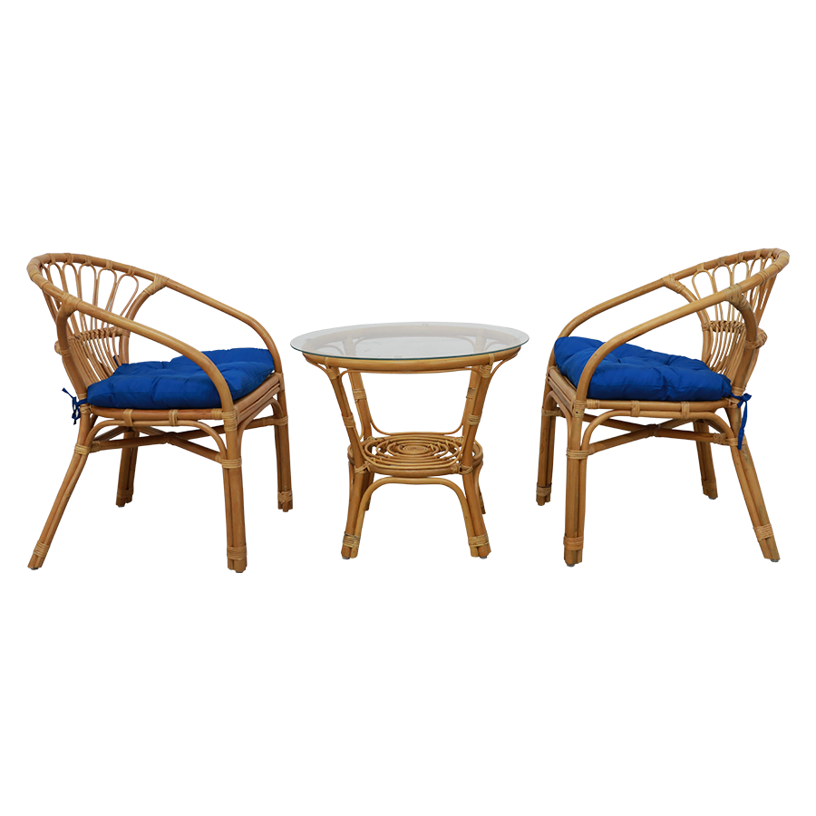 Java Terrace Rattan Coffee Set