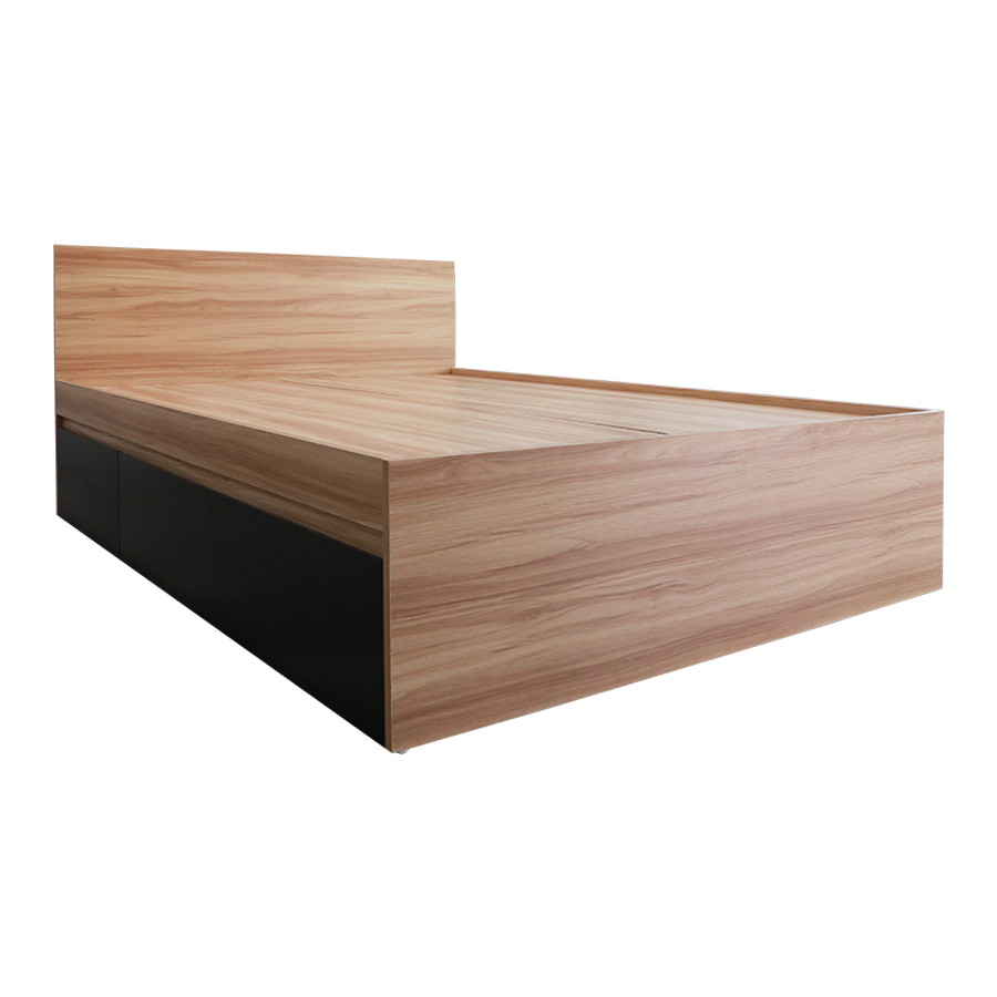 "Kaitlyn Single Bed 36x75"" with 2 Pull Out Drawer"