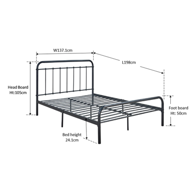 Kumi Metal Double Bed