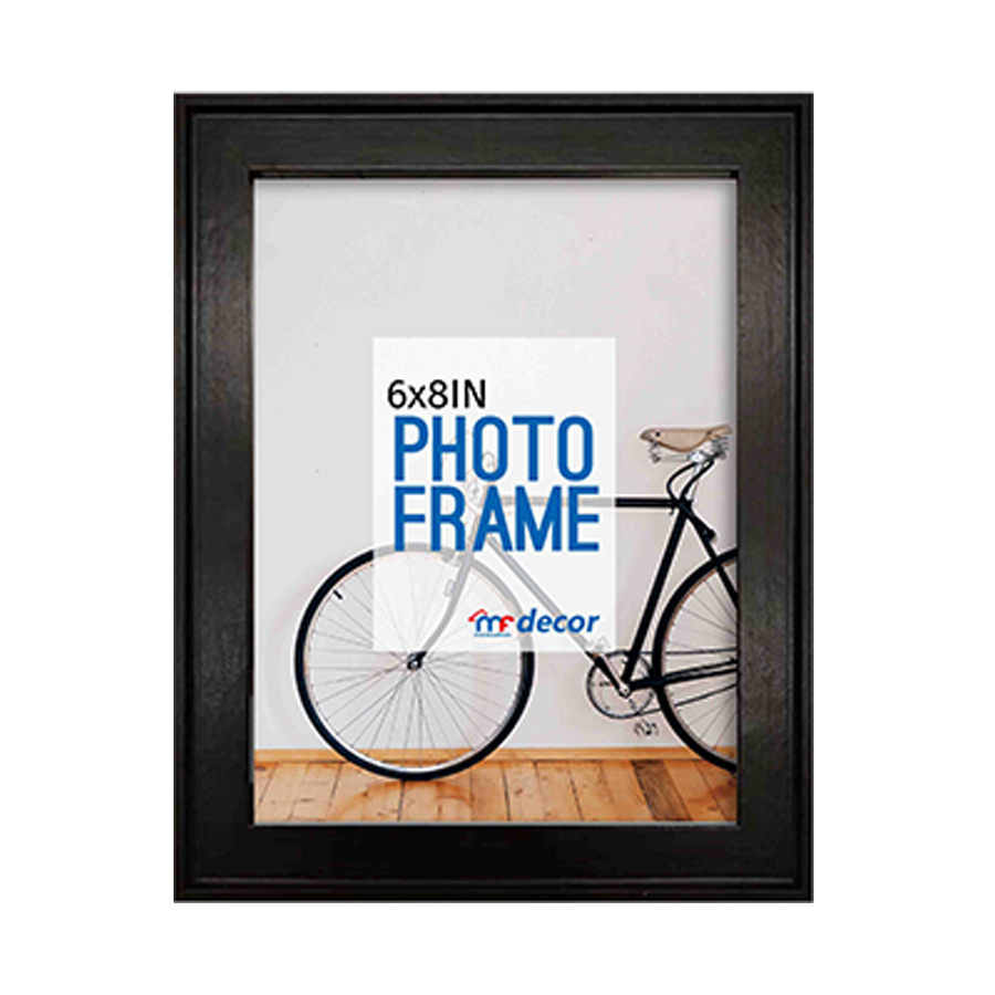 LB1A06 Black MDF Photo Frame 6 X 8""