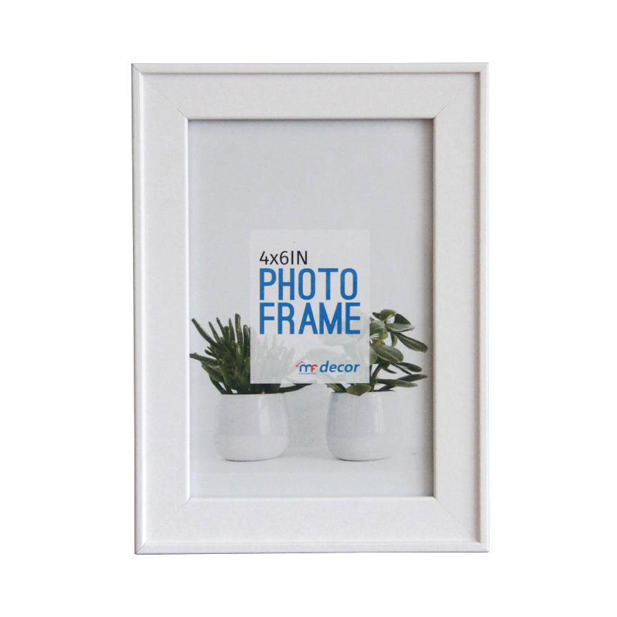 LB1A06 White MDF Photo Frame 4 X 6""