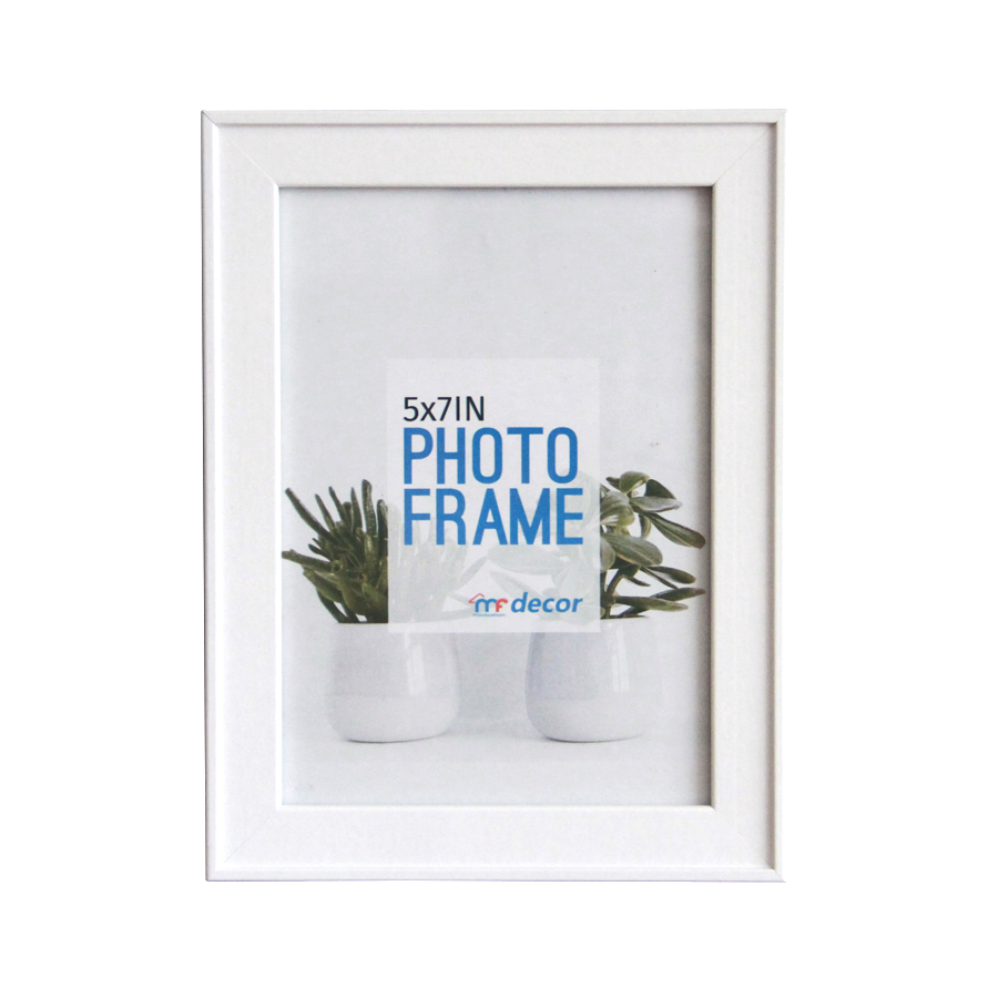LB1A06 White MDF Photo Frame 5 x 7""