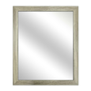 LBM03 Gray Wood Wall Mirror 55 X 70cm