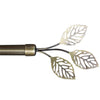 "WL-A-05 3 Leaves Rod Antique Brass 48""-84"""