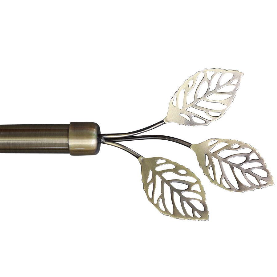 WL-A-05 3 Leaves Rod Antique Brass 66-120""