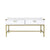 Lynn Coffee Table - White + Gold