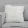 MF-009 White Fur with Silver 43x43cm
