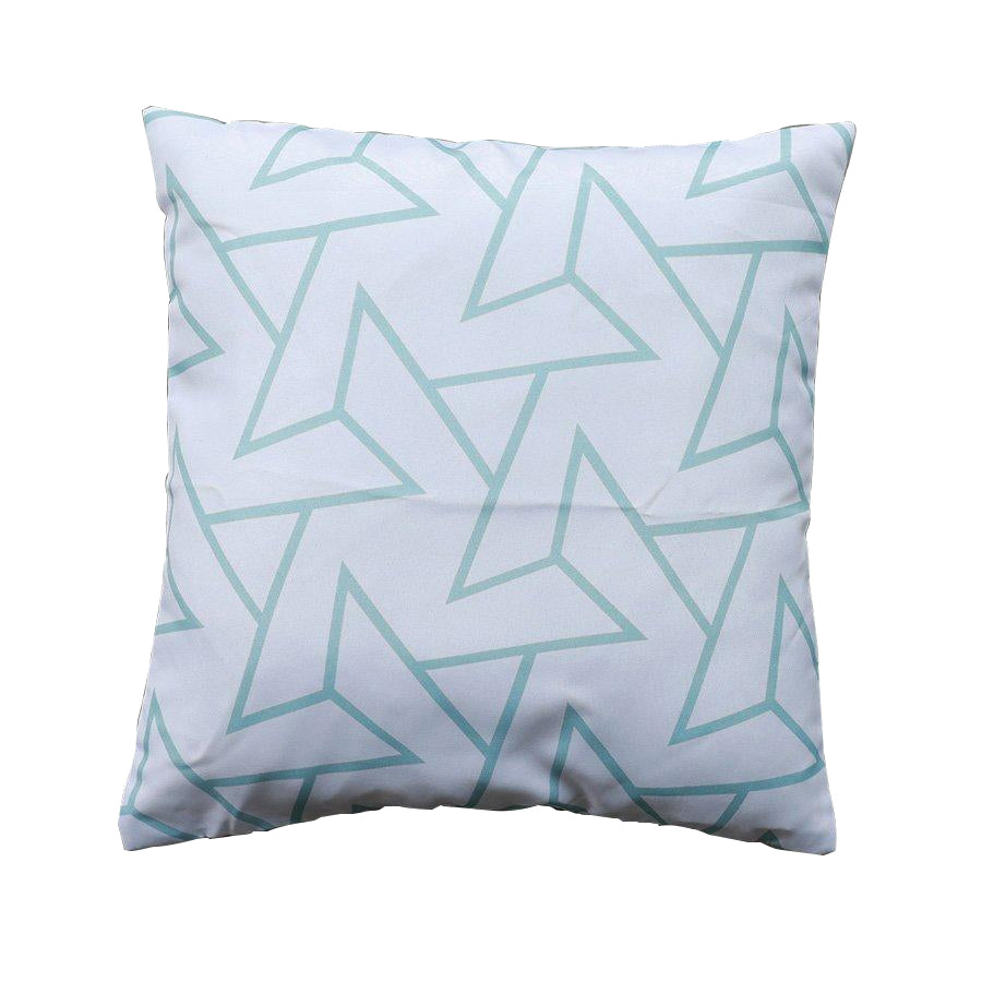 MSK766-1 Blue Geometric Throw Pillow Case