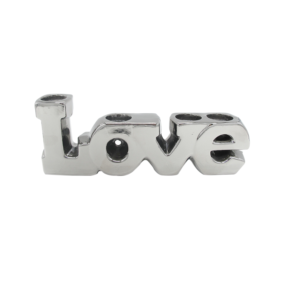 Metallic Love Decorative Sculpture