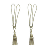 NJT Tassel Golden Olive & Silver By Pair