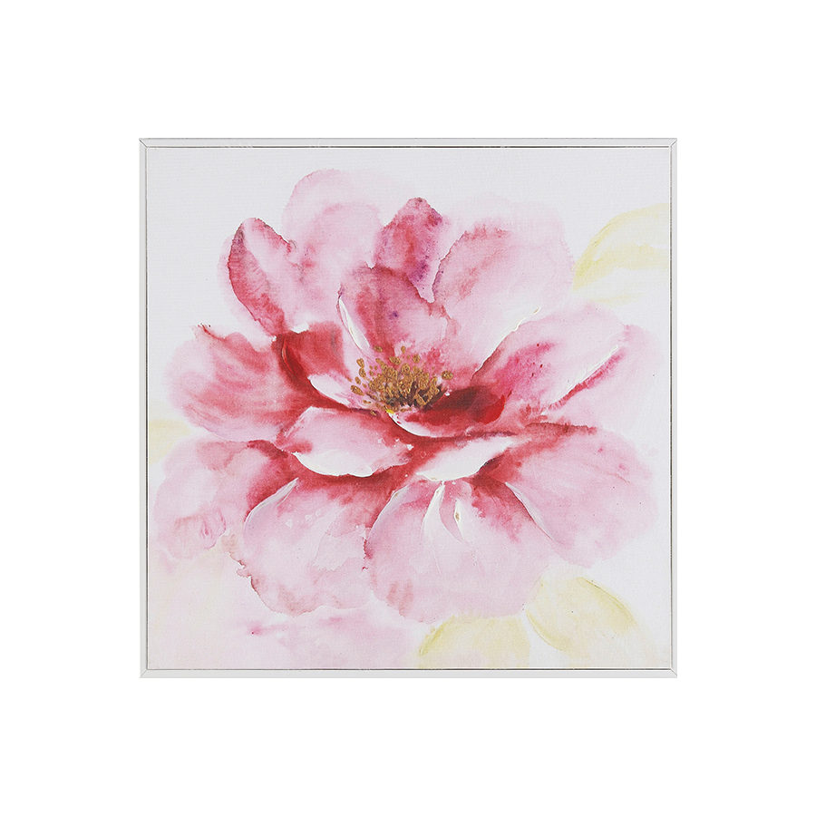 Pink Flower Printed Canvas 40x40x1.5 cm