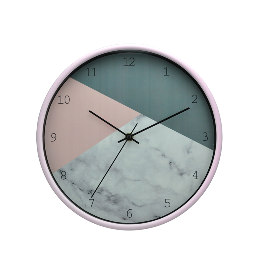 Pink + Marble Plastic Wall Clock 6911D-33