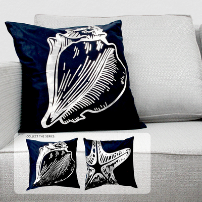 PLP08-103 Blue Metallic Seashell 45x45