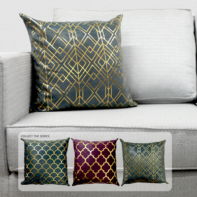 PLP08-104 Gray Geometric Pattern