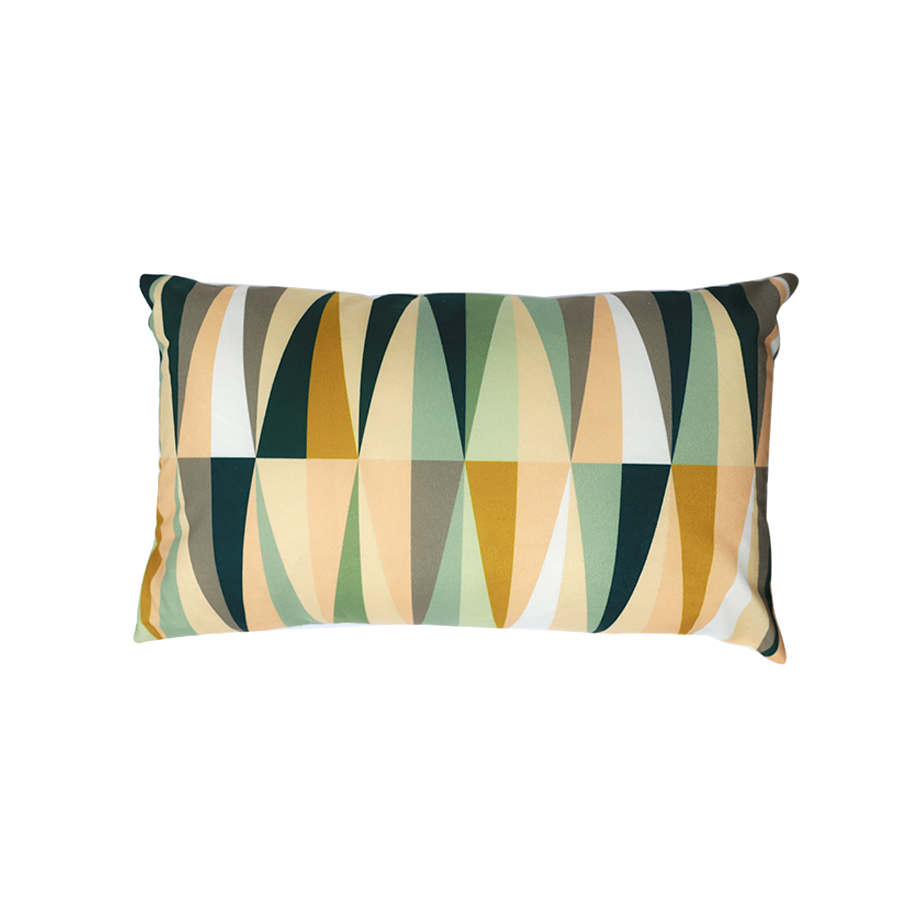 PLP08-12 Geometric Print Kidney Pillow