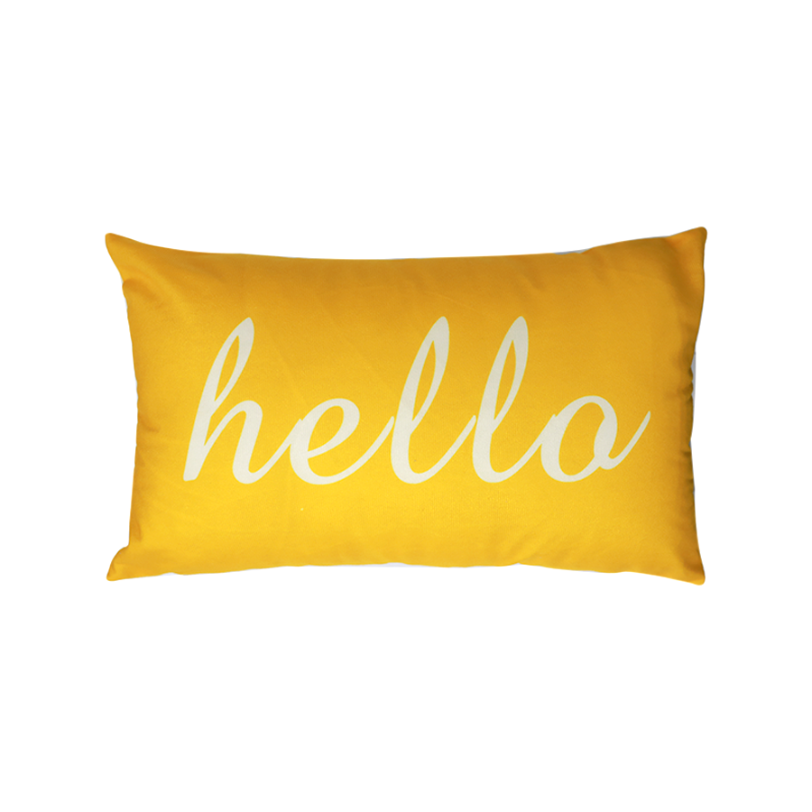 PLP08-13 Printed Hello Kidney Pillow