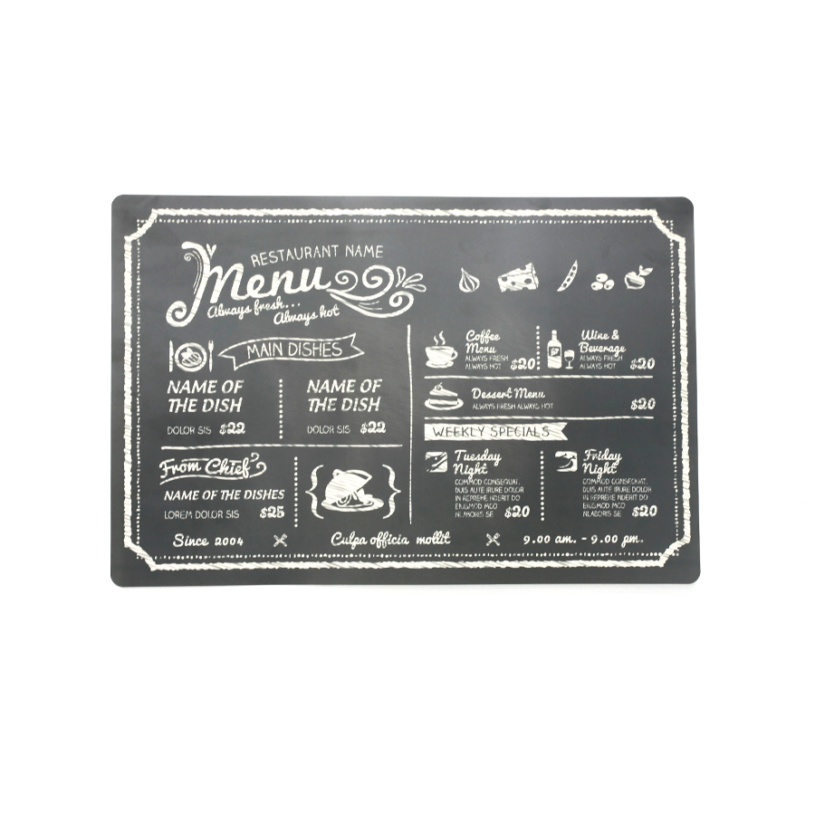 Pm75014-4 Café Menu Placemat