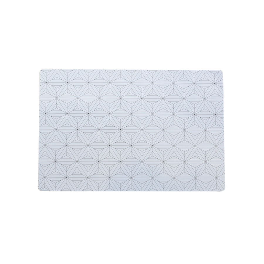 Pm75014-4 Geo Design Placemat-black & white