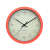 Red-orange Plastic Wall Clock 6918-4