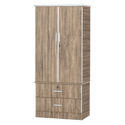 Ramon 2Door Wardrobe - Walnut Silver