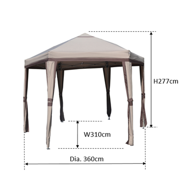 Reva Hexagon Folding Gazebo