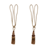 SCSJ Tassel Gold & Brown Mix Colors Pair