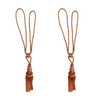 SCSJ Tassel Rust & Beige Mix Colors Pair
