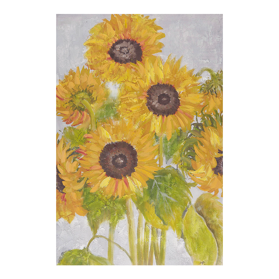 Sunflower Printed Canvas 60x90x2.8 cm