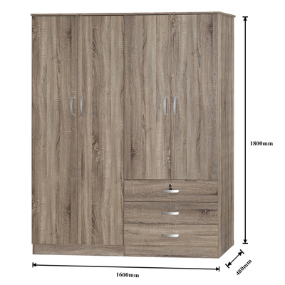 Scott 4 Door Wardrobe