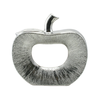 Silver Small Apple Sculpture