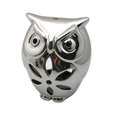 Silver Owl Sculpture - Large