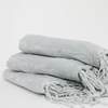 Sl05-Plain Flannel Throws- Cool Grey