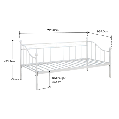 Sonya Metal Day Bed