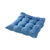Blue Seat Pad Tufted Suede