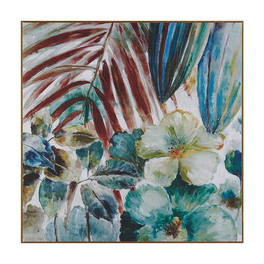 Tropical Series Printed Canvas + Ps Frame 80x80x3.5 cm
