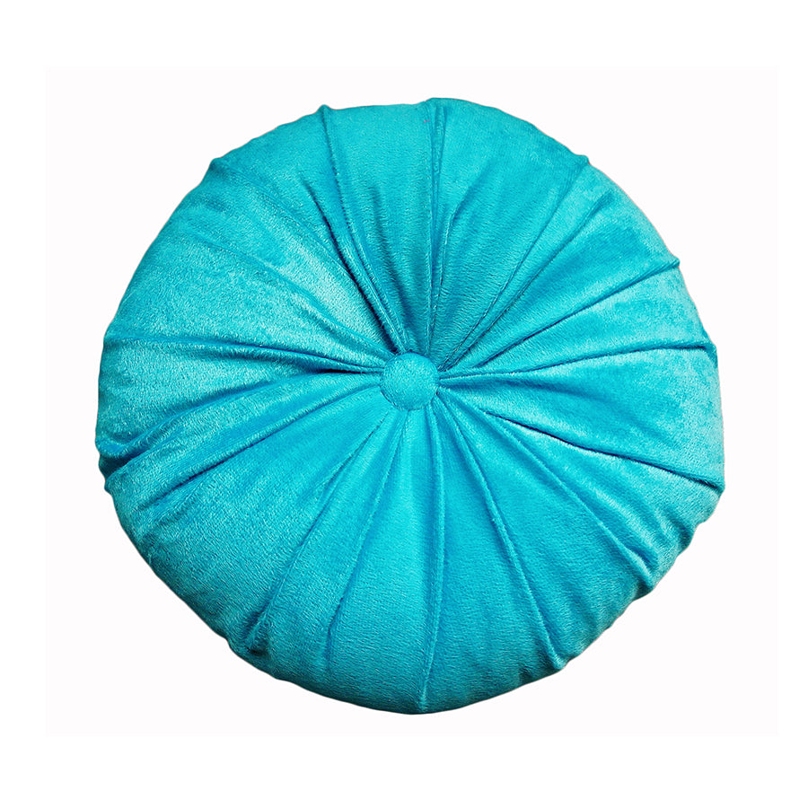 Tufted Round Cushion With Button