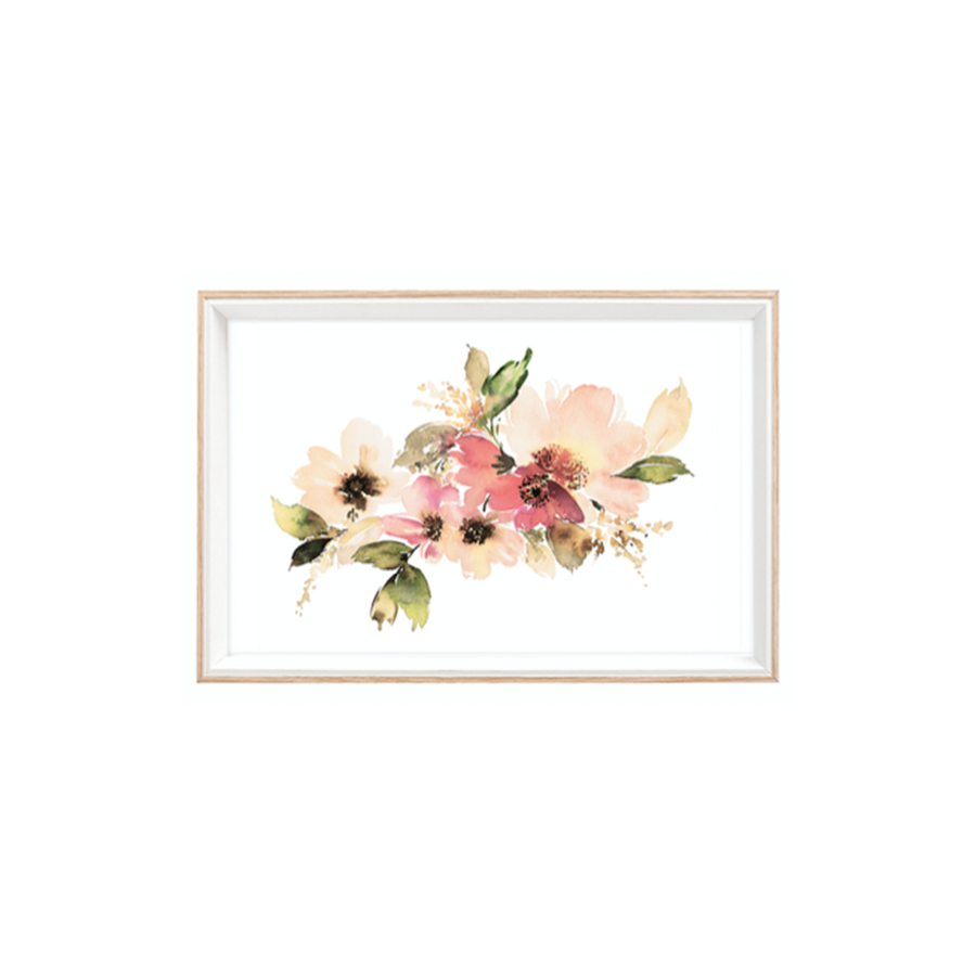 Vk94710 Wall Frame Floral Bloom