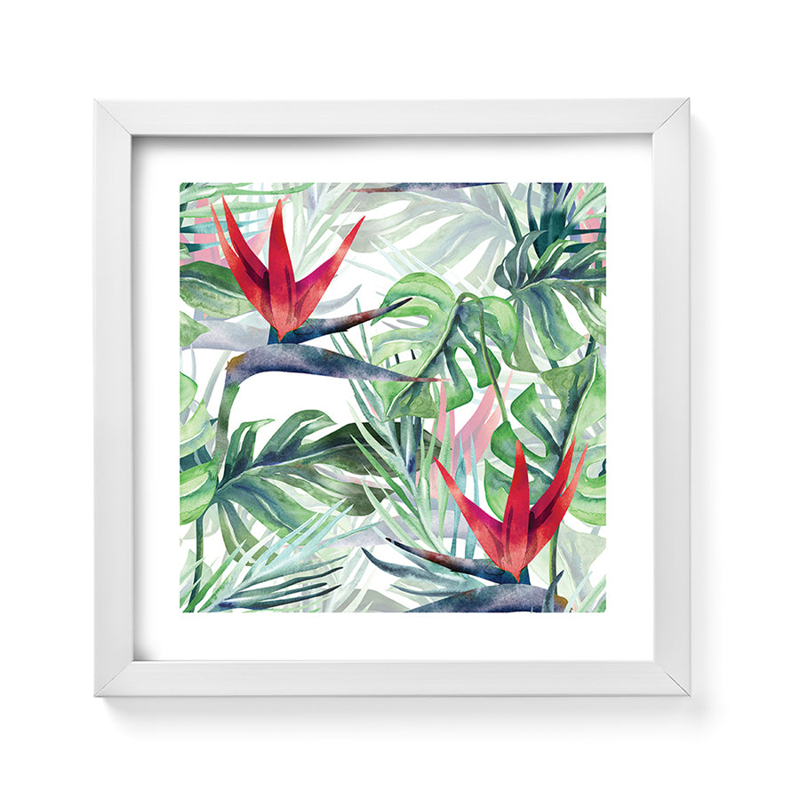 Vm90982 Tropical Flowers Framed Art