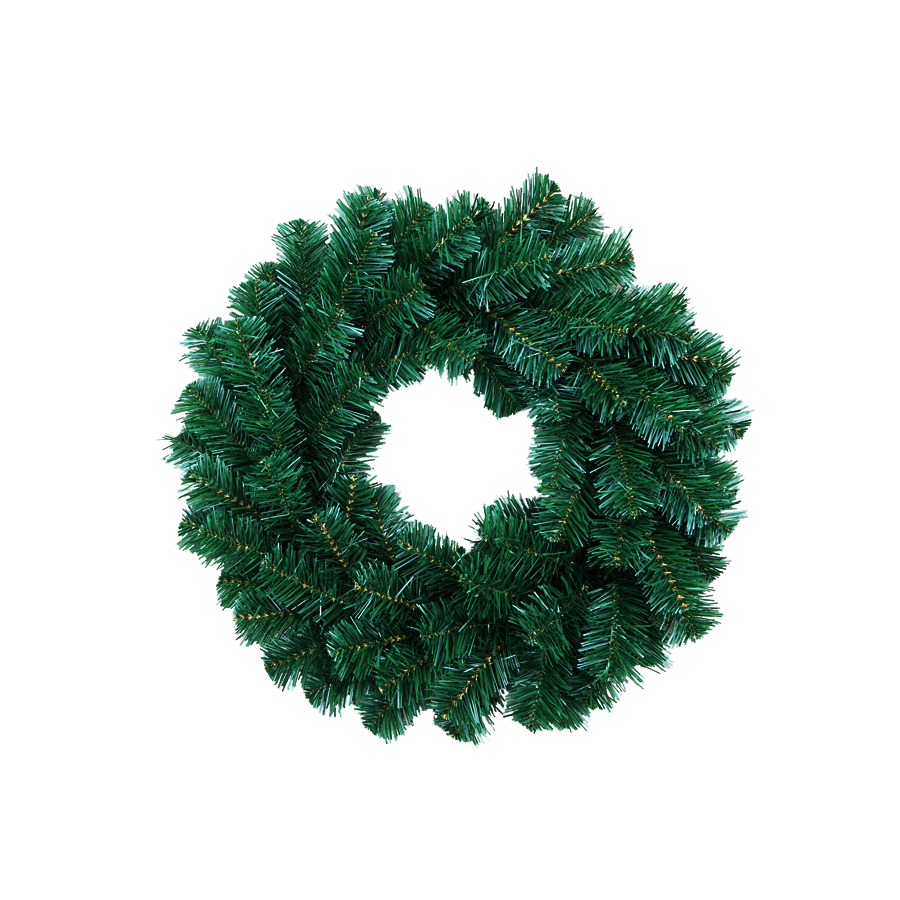 W1575 45cm PVC Wreath 75Tips