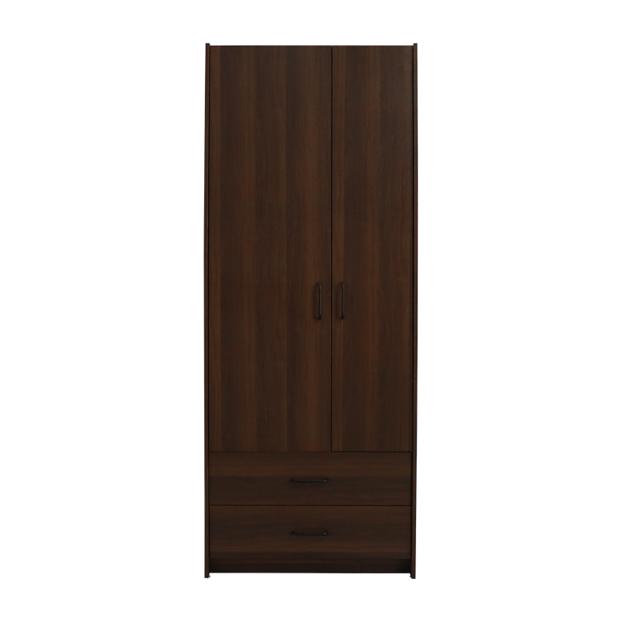 Walnut 2 Door Wardrobe